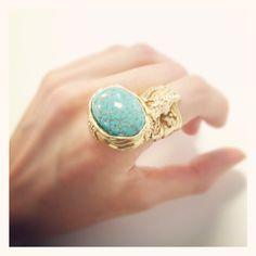 """Yves Saint Laurent """"Arty"""" ring."""