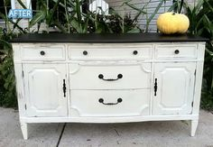 Better After: tables/dressers  really like black top white bottom