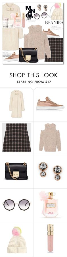 """Pom Pom Beanie Pretty"" by vkmd ❤ liked on Polyvore featuring Tory Burch, Jil Sander, Gucci, Michael Kors, FOSSIL, raen, Victoria's Secret, Topshop, Smith & Cult and pompombeanies"
