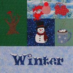 Seasonally Winter Quilt Pattern by victorianaquiltdesign