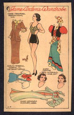 2-9-36 Jane Arden paper doll / eBay