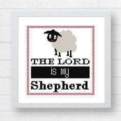 Bible verse Cross  Stitch Pattern/The Lord by Crossstitchfactory