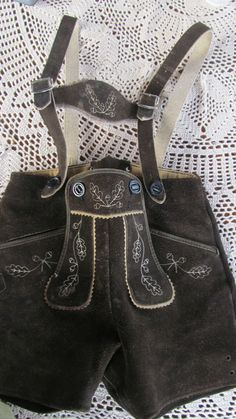 Vintage Lederhosen Suede Leather