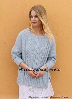 Новости Pullover, Pulls, Knitwear, Cardigans, Sweaters, Knitting, Fashion, Knitting Sweaters, Side Cuts
