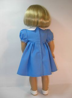 1934-1042 Blue 1930s Era Dress and Hair Band for by terristouch