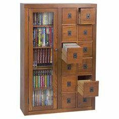 Covington Media Cabinet in Dark Oak