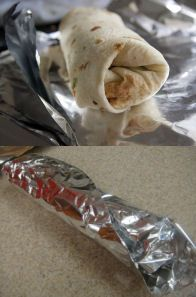 This is the camping. dessert burrito after wrapping - A camping dessert treat recipe that the kids will love to make and eat