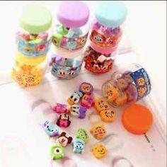 Japanese Kawaii Cute Mini Eraser Bottle Mickey Stitch Animal Cartoon Toy Story | eBay