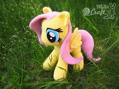 "Meet the cutest pony from the adorable cartoon ""My Little Pony Friendship is Magic"" – Fluttershy the Pegasus! If you know basic principles of crocheting and like this character you can create your own Fluttershy using this crochet pattern. A pony made by your hands will definitely become a best friend for any little fan of the cartoon and win the adults' hearts."