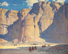 """Canyon  De Chelly,"" by Edgar Payne, oil"