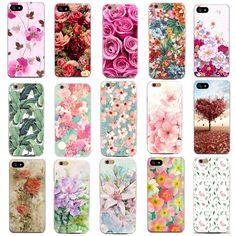 얇은 case 대한 apple iphone 7 7 플러스 6 6 초 5 5 초 se 4 4 초 커버 꽃 그린 iphone 전화 case 소프트 슬림 쉘