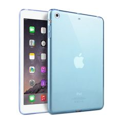 [USD1.45] [EUR1.33] [GBP1.03] HAWEEL Slim Transparent TPU Protective Case for iPad mini 1 / 2 / 3(Blue)