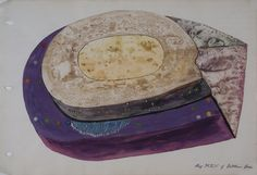 cavinmorrisgallery:  Melvin Edward NelsonPlanetary World #6, 4/3/64Mineral Pigment, Watercolor on Paper11 x 17 inches27.9 x 43.2 cmNel 127  http://www.cavinmorris.com