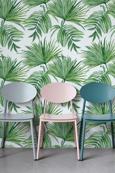 EXOTIC LEAVES HAND DRAWN PATTERN TEMPORARY WALLPAPER - LET THE OUTDOORS IN
