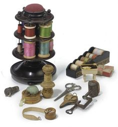 A COLLECTION OF VICTORIAN SEWING UTENSILS   #EasyPin