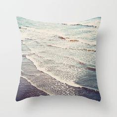 Ocean+Waves+Retro+Throw+Pillow+by+Kurt+Rahn+-+$20.00