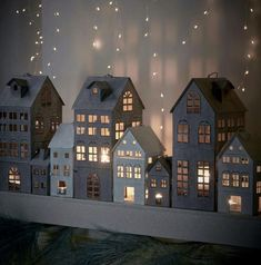 THIS LITTLE VILLAGE 'AT NIGHT' LOOKS ABSOLUTELY FABULOUS & WOULD BE AN AWESOME FOCAL POINT, IN ANY ROOM!! ✳️