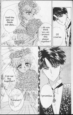 Promises at the Wedding and after Usagi tells Mamoru that she is pregnant ❤️