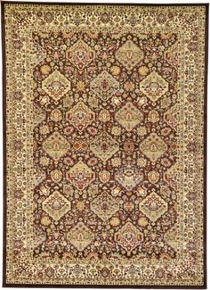 Brown Classic Agra Area Rug
