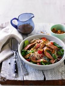 The smoked beef marries well with the Thai flavours of this salad.