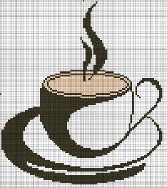 Вышивка Кофе