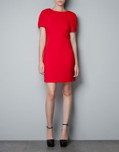 PUFF SLEEVE DRESS - Zara