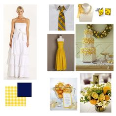 Yellow and navy not bad
