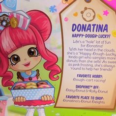 Shopkins shoppies donatina more shopkins dolls shopkins shoppies