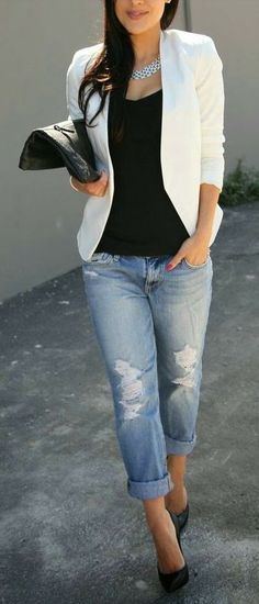 jeans and white shirt outfit (4)