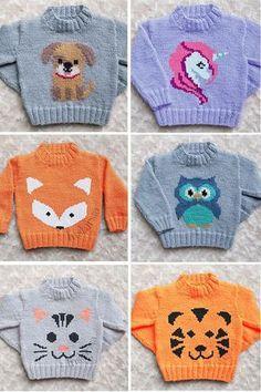 Baby Knitting Patterns, Baby Sweater Knitting Pattern, Kids Patterns, Knitting Charts, Knitting For Kids, Crochet For Kids, Knitting Projects, Crochet Patterns, Sweater Patterns