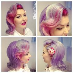 Today s hair, with hair flower by @ladylucksboutique