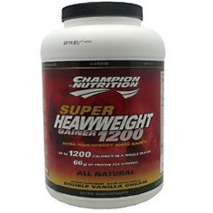 Champion Nutrition Super Heavyweight Gainer 1200 Ultra High-Density Mass Gainer, Double Vanilla Cream, 6.6 Pound