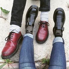 「Dr. Martens cherry red 1461 shoes and Bethan Mary-Janes shared by @sydn4sty #DrMartens #DrMartensStyle」