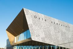 The facade of the Oslo Skatepark features a Morse code translation of a Norwegian law banning skateboards.