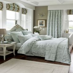 NEW luxury bedding from Dorma - AW15 - Ornate Damask. Stunning duck egg blue with Jacquard detailing across the front - available now at www.victorialinen.co.uk
