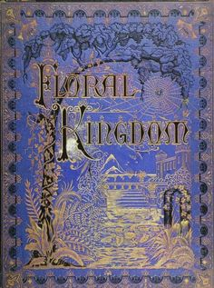 Decorative cover of 'Floral Kingdom' by Mrs Cordelia Harris Turner. Published 1877 by Moses Warren, Chicago.