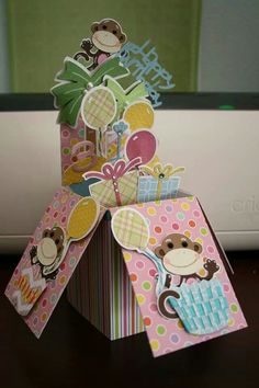 Birthday card in a box idea