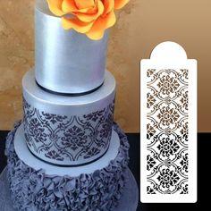 Пластиковые выпечки-cookie-торт трафарет фондант торт инструмент, Украшение для торта свадебные цветы печенья трафарет ST-273