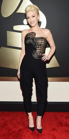 Gwen Stefani 'Rocker Chic' Grammys 2015 Red Carpet Arrivals - Gwen Stefani from #InStyle