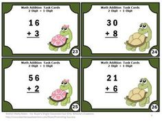 2 Digit Addition: 2 Digit Plus 1 Digit Addition Without Regrouping - Here are 30 common core math task cards to practice adding 2 digit by 1 digit numbers without regrouping. A student response form and key are also provided.