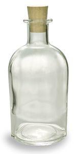 Cork Boston Glass Bottle 8.5oz (250ml) w/ Cork