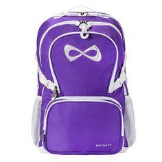 Nfinity Princess Backpack NF-9022P Purple with rhinestone logo