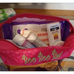 """Thirty-one zipper pencil case ... Make a great """"boo boo bag."""" Keep all your first aid stuff safe."""