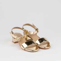 """Maryam Nassir Zadeh Sophie Sandal in Metallic Gold 
