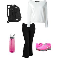 A fashion look from March 2015 featuring Ralph Lauren Black Label sweatshirts, Old Navy activewear pants and NIKE athletic shoes. Browse and shop related looks.