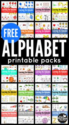 printable worksheets, packs, idea and posters Free Alphabet Printables, Alphabet Activities, Literacy Activities, Printable Worksheets, Educational Activities, Preschool Learning, Early Learning, Fun Learning, Teaching Kids