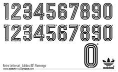 Adidas Retro kit font 3