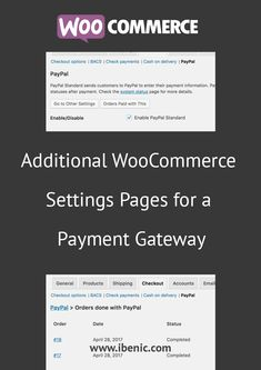 Learn how to add additional WooCommerce Settings Pages for Payment Gateways. In this article you will learn how to add a page under a Payment Gateway to show all the orders done by it. Learn Wordpress, Wordpress Plugins, Website Maintenance, Branding, Web Development, About Me Blog, Ads, Learning, Entrepreneurship