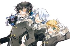 ok long time ago not submitted deviations... they are break and oz from pandora hearts.. I hope you like