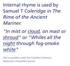 Internal Rhyme - Google Search
